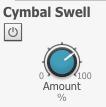 シンバル・スウェルとは:シンバルを連打したときや、ロール奏法をなどを行ったときに自然なつながりが得られる新機能。これにより従来のドラム音源で「いかにも打ち込みのような」不自然さを排除し、リアルなシンバルを再現できる機能。